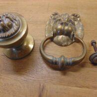 Lion Door Furniture Set - D320L-0921 Antique Door Knocker Company